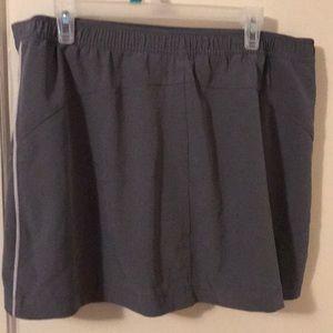 Danskin Shorts - Grey and white skort